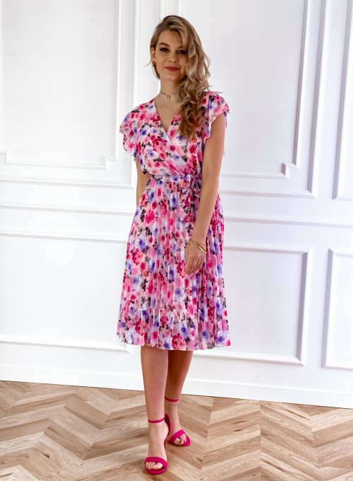Plisowana kwiatowa sukienka Auris VI 2