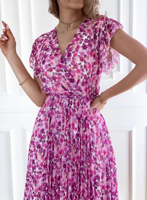 Plisowana kwiatowa sukienka Auris VII 1