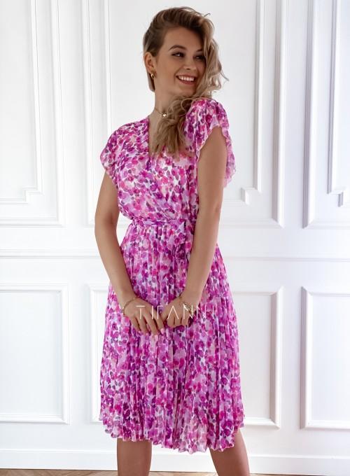 Plisowana kwiatowa sukienka Auris VII 3