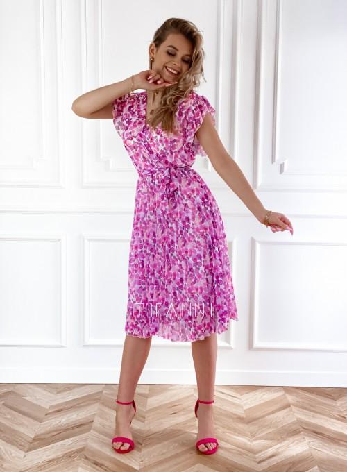 Plisowana kwiatowa sukienka Auris VII 4