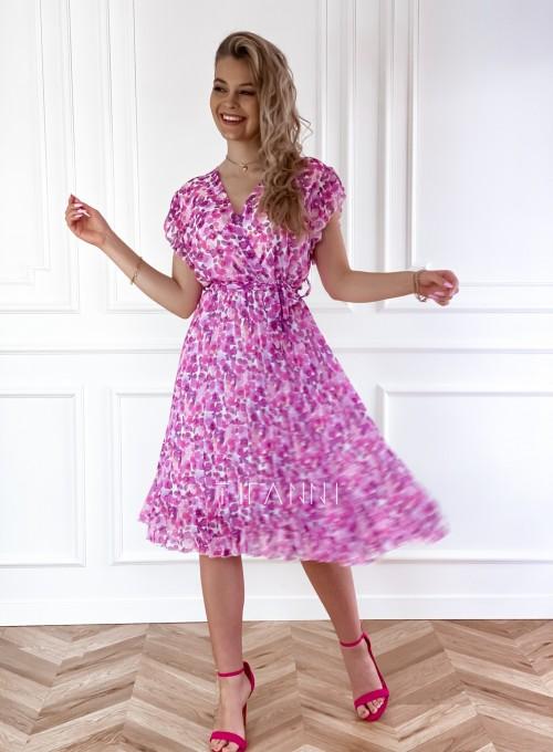 Plisowana kwiatowa sukienka Auris VII 5
