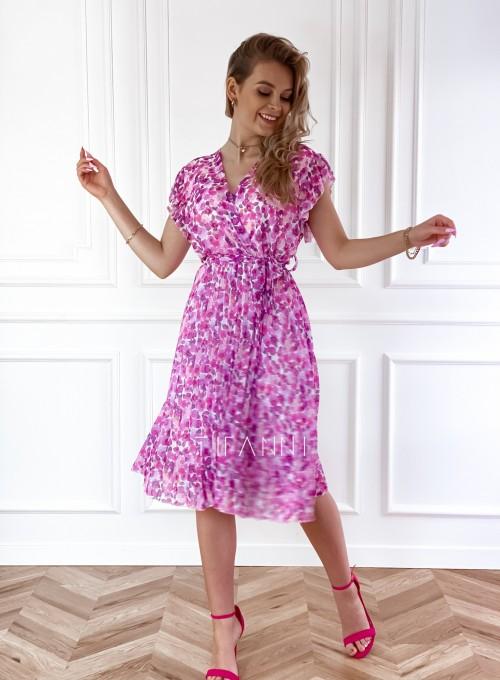 Plisowana kwiatowa sukienka Auris VII 6