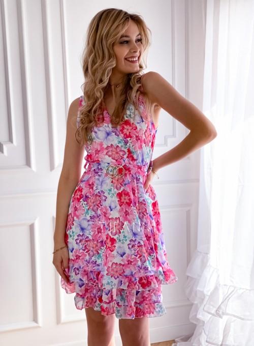 Szyfonowa kwiecista sukienka II