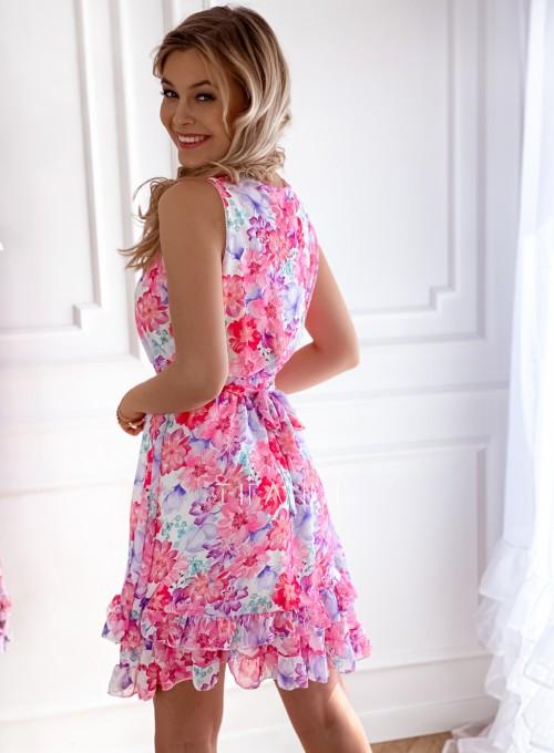 Szyfonowa kwiecista sukienka II 3