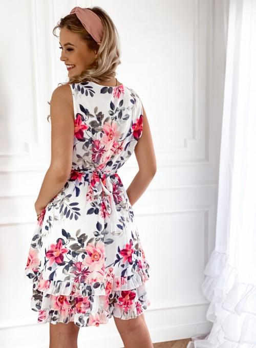 Szyfonowa kwiecista sukienka III 2