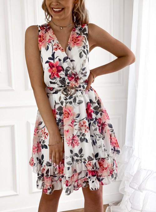 Szyfonowa kwiecista sukienka III 1
