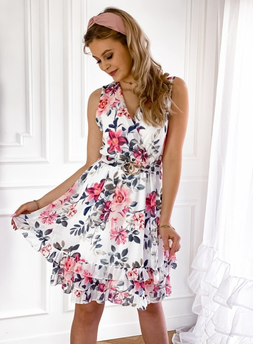 Szyfonowa kwiecista sukienka III 3