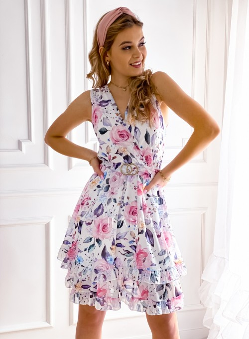 Szyfonowa kwiecista sukienka IV