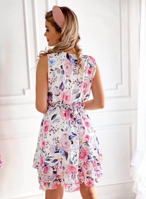 Szyfonowa kwiecista sukienka IV 2