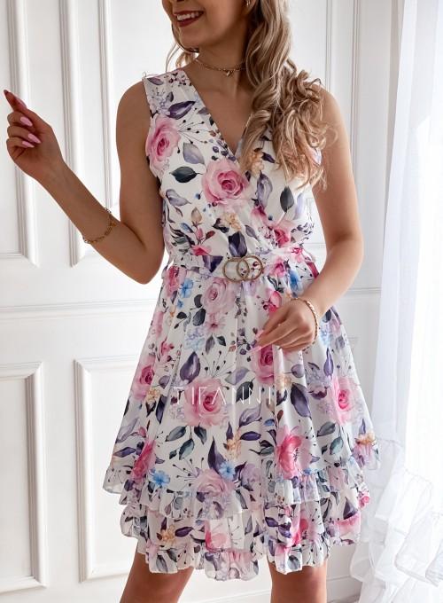 Szyfonowa kwiecista sukienka IV 1