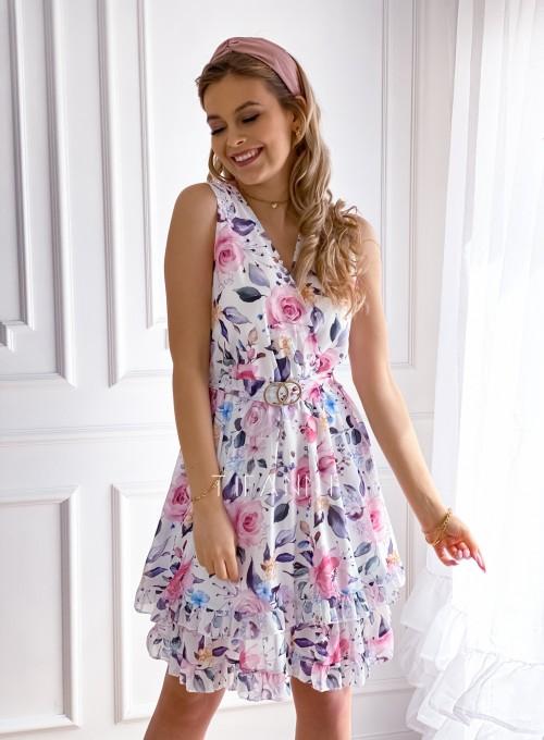 Szyfonowa kwiecista sukienka IV 3