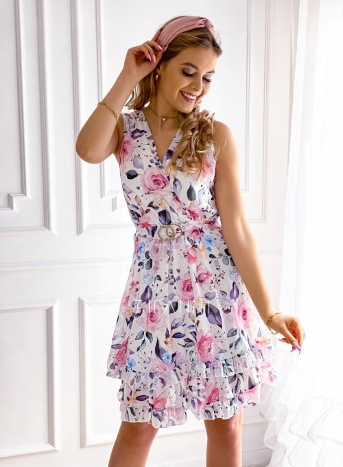 Szyfonowa kwiecista sukienka IV 4