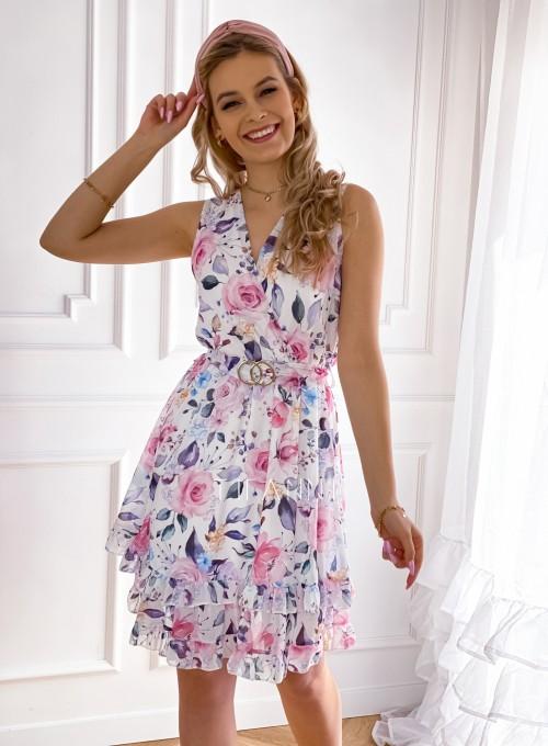 Szyfonowa kwiecista sukienka IV 5