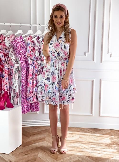 Szyfonowa kwiecista sukienka IV 6