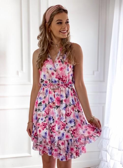 Szyfonowa kwiecista sukienka V
