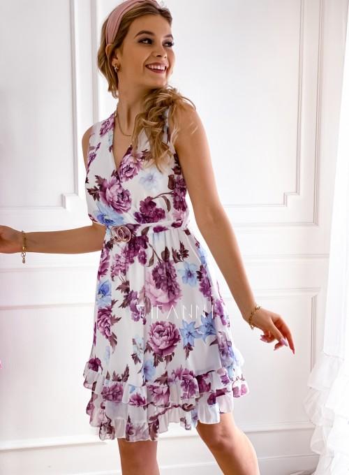 Szyfonowa kwiecista sukienka VI 1