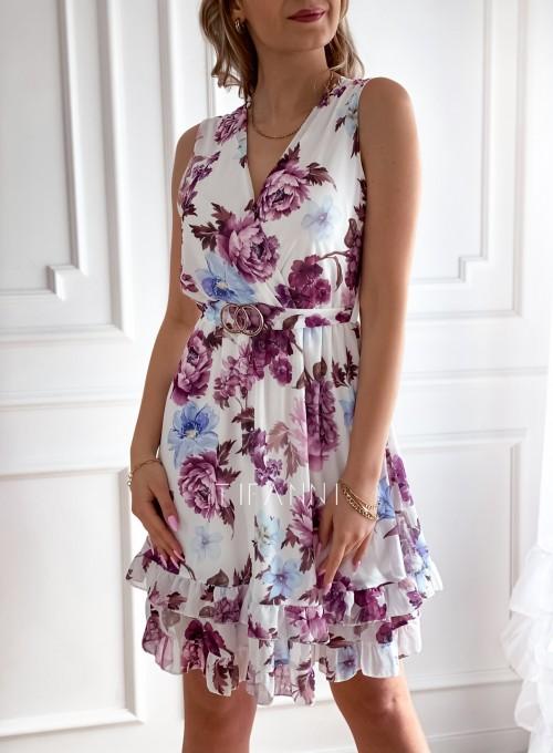 Szyfonowa kwiecista sukienka VI 4
