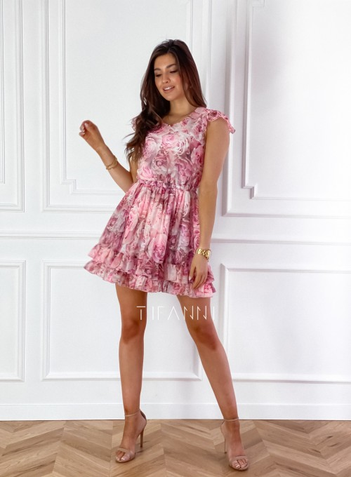 Zwiewna sukienka Passion rose 1