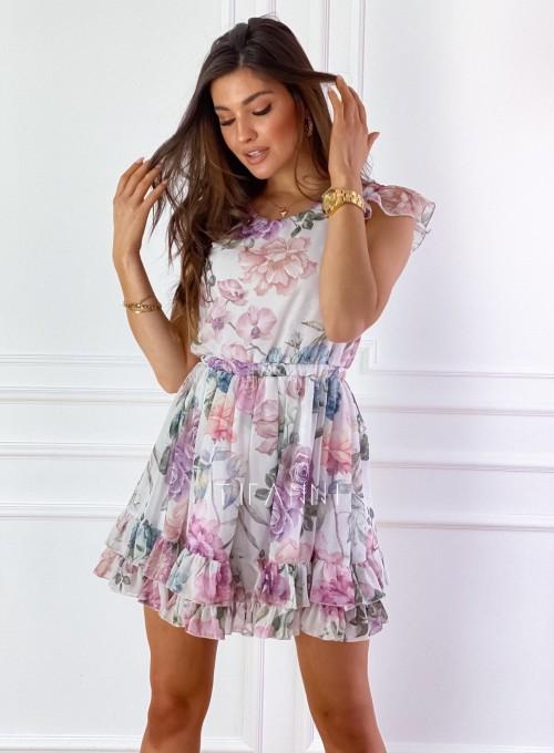 Zwiewna sukienka Passion flowers