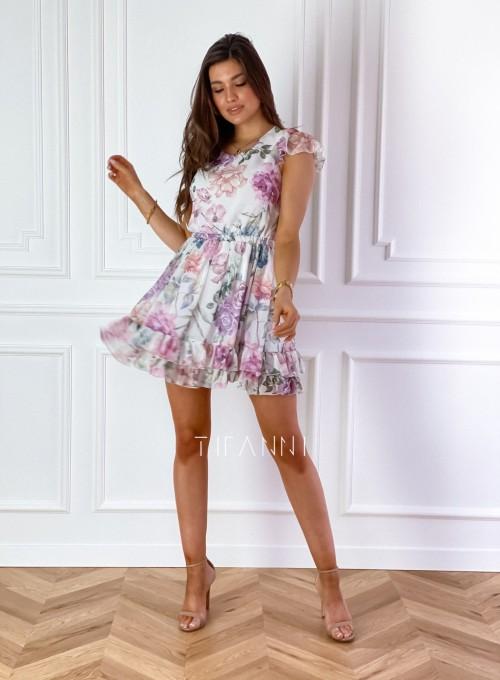 Zwiewna sukienka Passion flowers 1