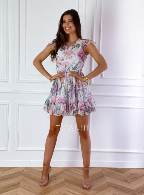 Zwiewna sukienka Passion flowers 3