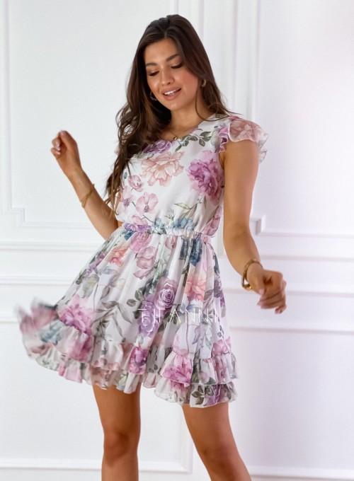Zwiewna sukienka Passion flowers 5