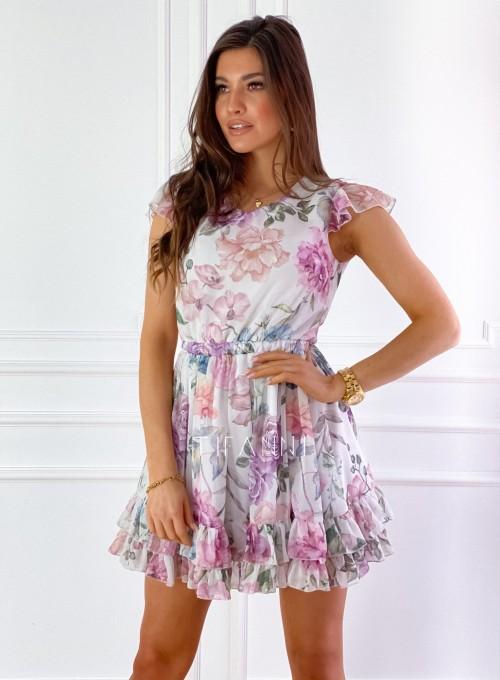 Zwiewna sukienka Passion flowers 6