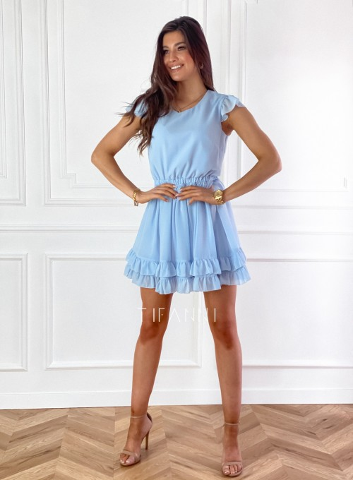 Zwiewna sukienka Passion błękitna 3