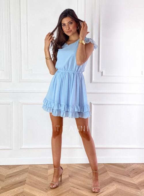 Zwiewna sukienka Passion błękitna 1