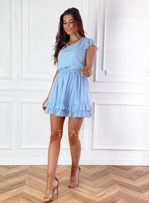 Zwiewna sukienka Passion błękitna 4