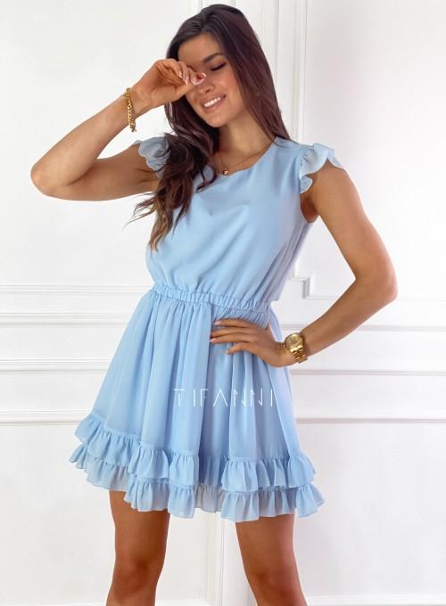 Zwiewna sukienka Passion błękitna 5