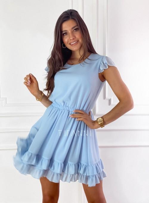 Zwiewna sukienka Passion błękitna 6