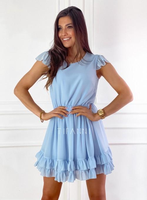 Zwiewna sukienka Passion błękitna 7