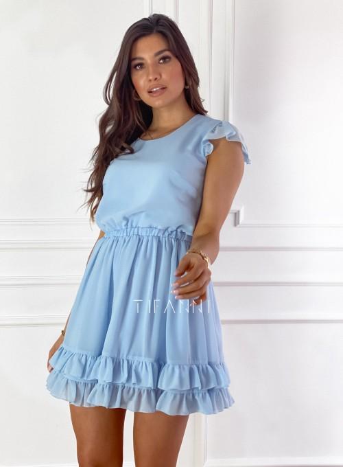 Zwiewna sukienka Passion błękitna 8