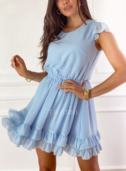 Zwiewna sukienka Passion błękitna 2