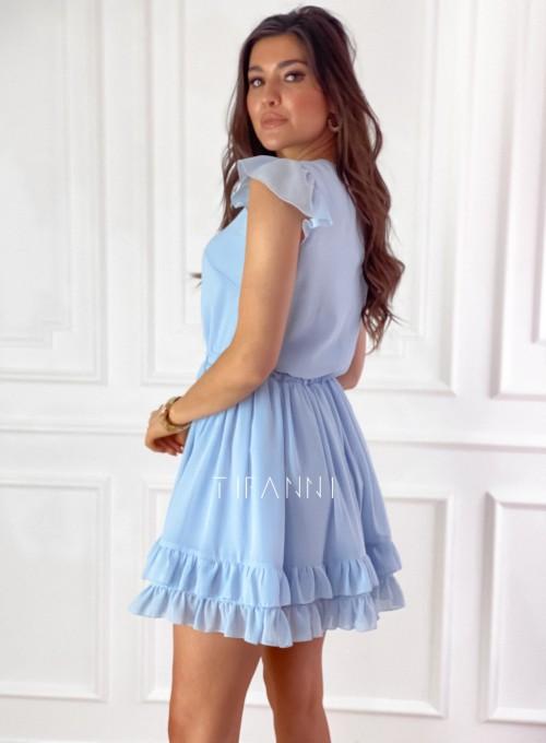 Zwiewna sukienka Passion błękitna 9