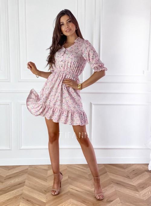 Sukienka z kwiatowym printem Bella 1