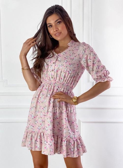 Sukienka z kwiatowym printem Bella 5