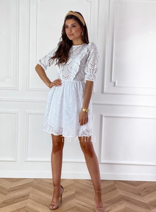 Ażurowa bawełniana sukienka Quinni 1