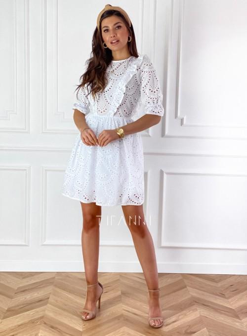 Ażurowa bawełniana sukienka Quinni 3