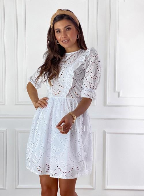 Ażurowa bawełniana sukienka Quinni 4