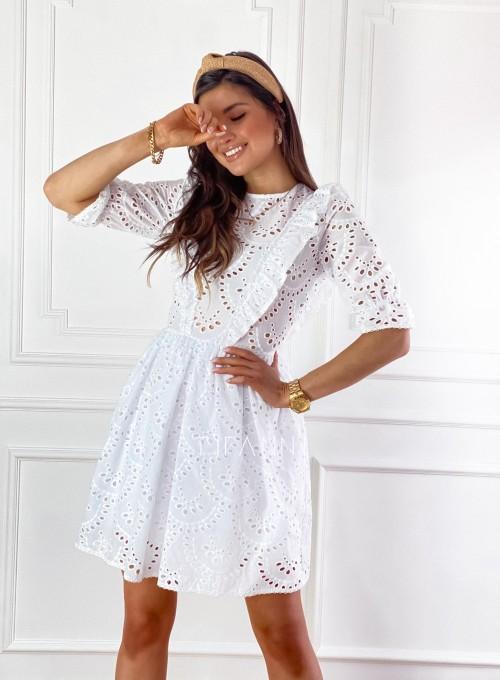 Ażurowa bawełniana sukienka Quinni 5