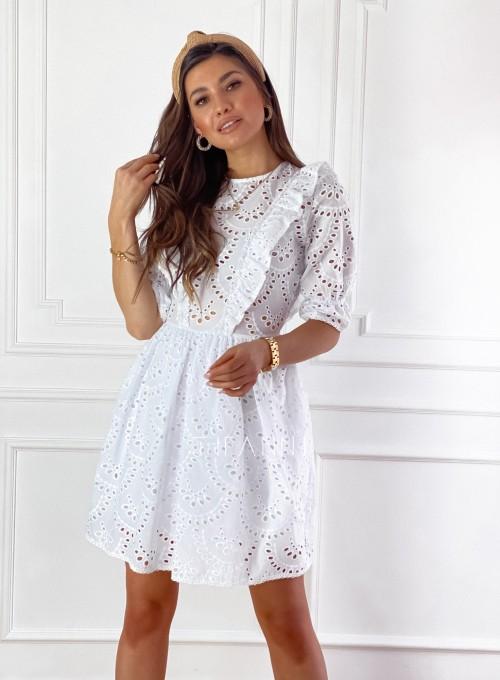 Ażurowa bawełniana sukienka Quinni 6