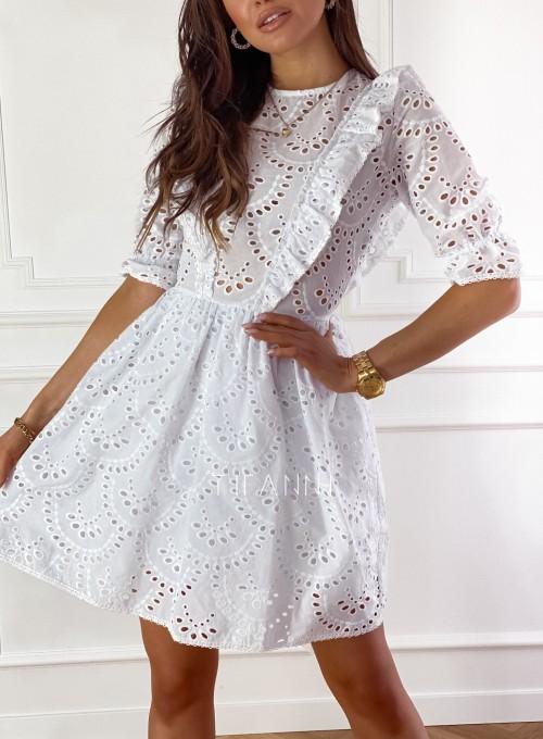 Ażurowa bawełniana sukienka Quinni 2