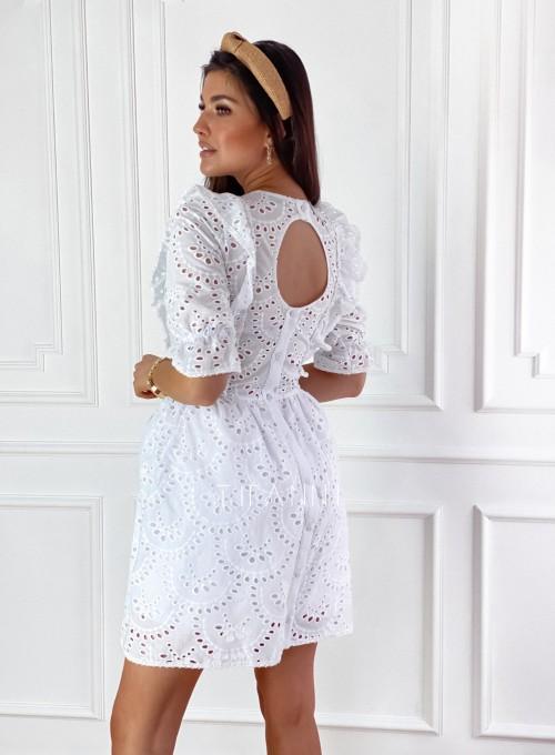 Ażurowa bawełniana sukienka Quinni 7