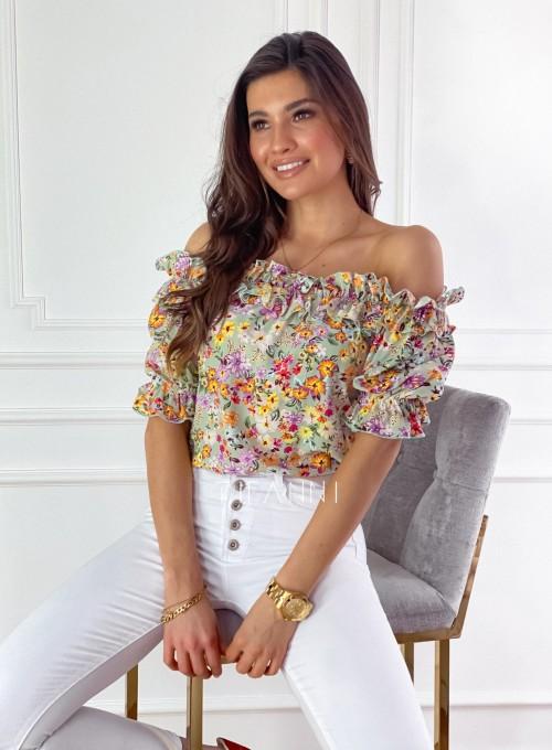 Bluzka hiszpanka Donna w kwiatki 2