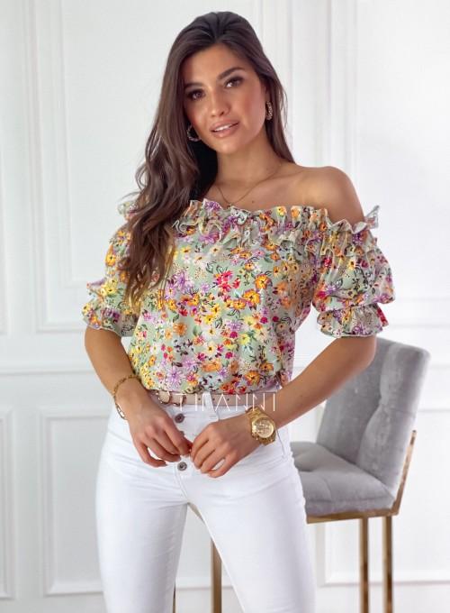 Bluzka hiszpanka Donna w kwiatki 4