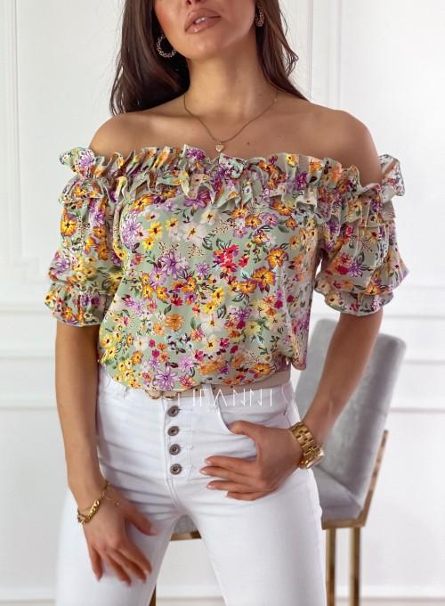Bluzka hiszpanka Donna w kwiatki 1