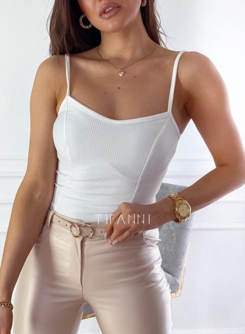 Bluzka na ramiączkach Amelia śmietankowa 2