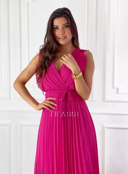 Długa plisowana sukienka Debra fuksja 5